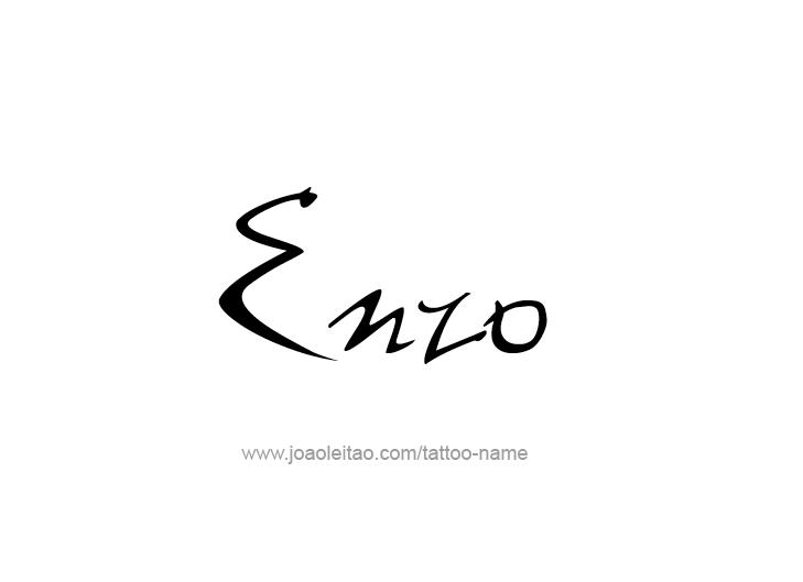Tattoo Design  Name Enzo