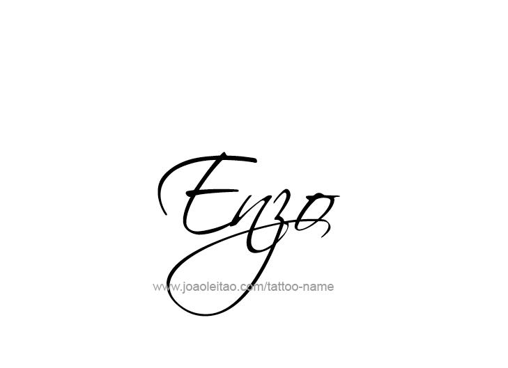 Enzo Name Tattoo Designs