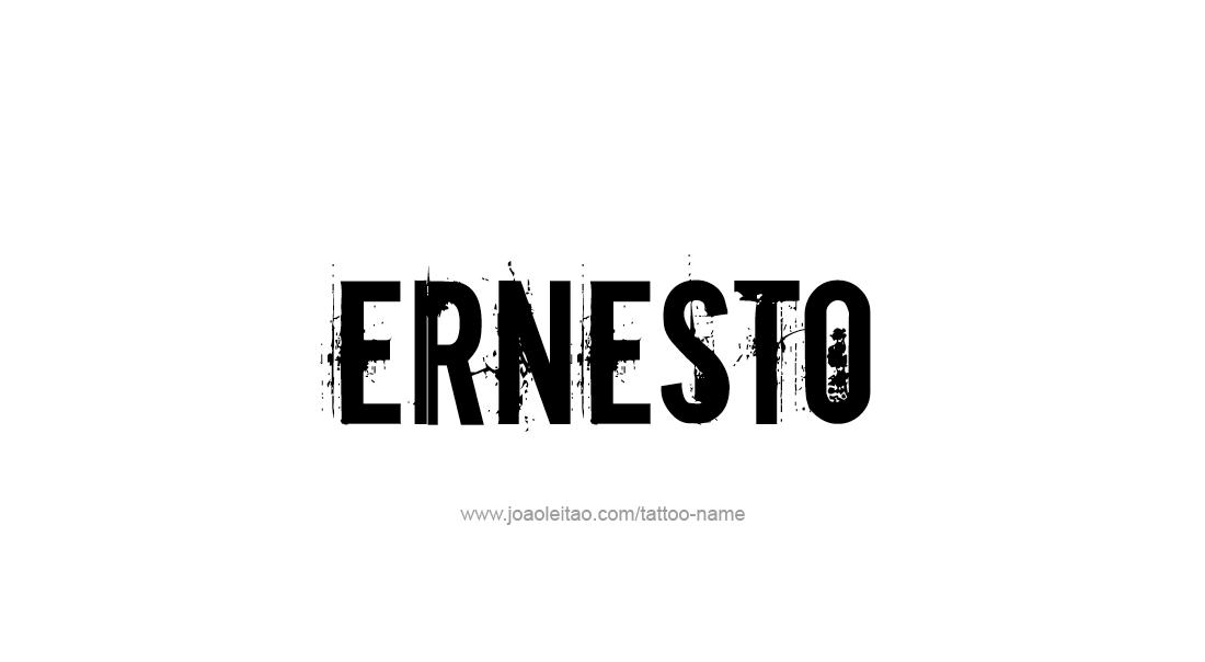 Tattoo Design  Name Ernesto
