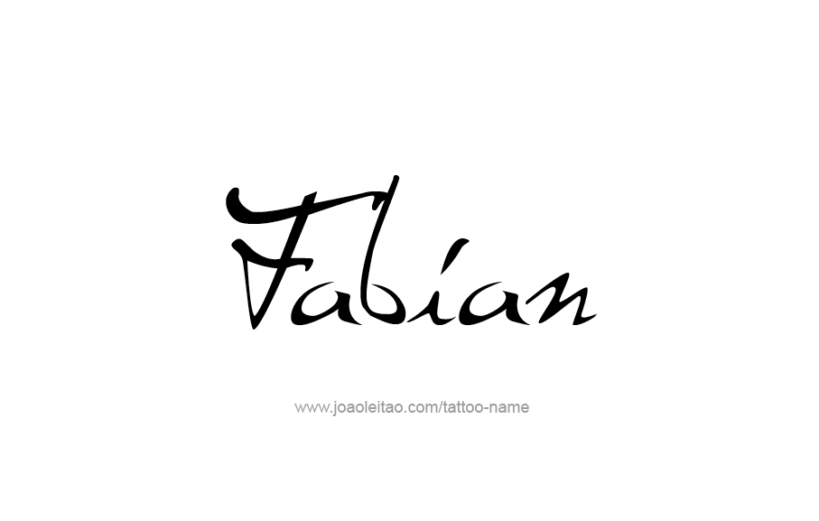 Tattoo Design  Name Fabian