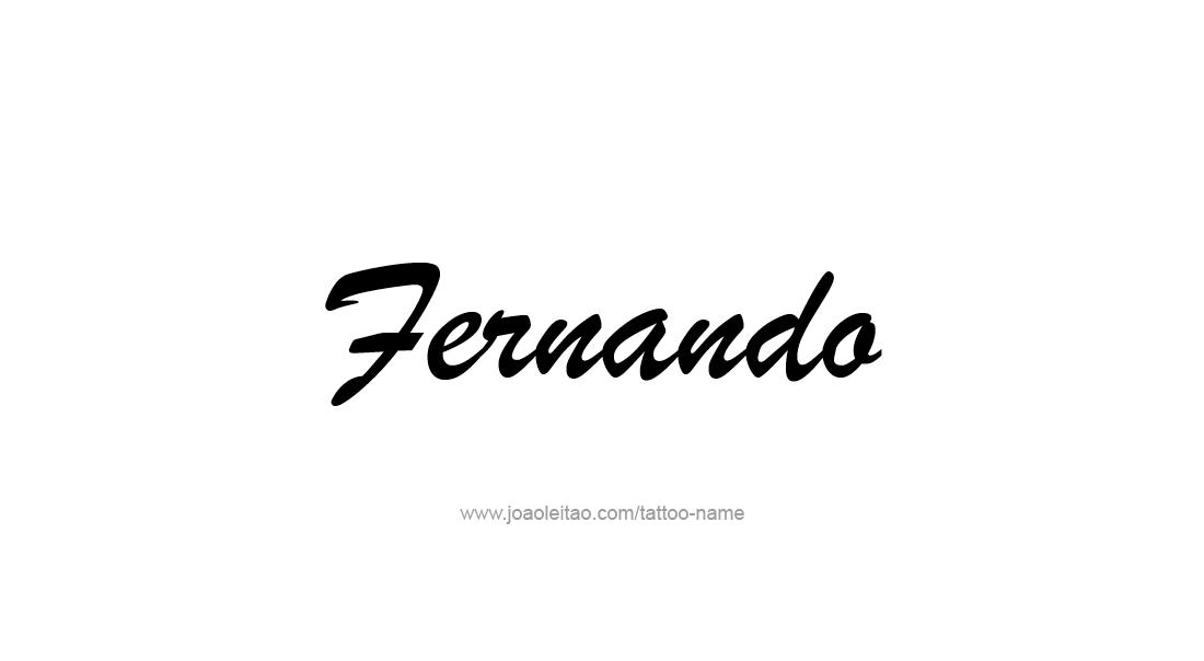 fernando name tattoo designs