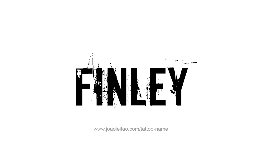 Tattoo Design  Name Finley