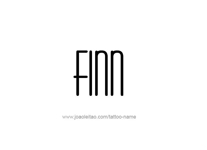 Tattoo Design  Name Finn