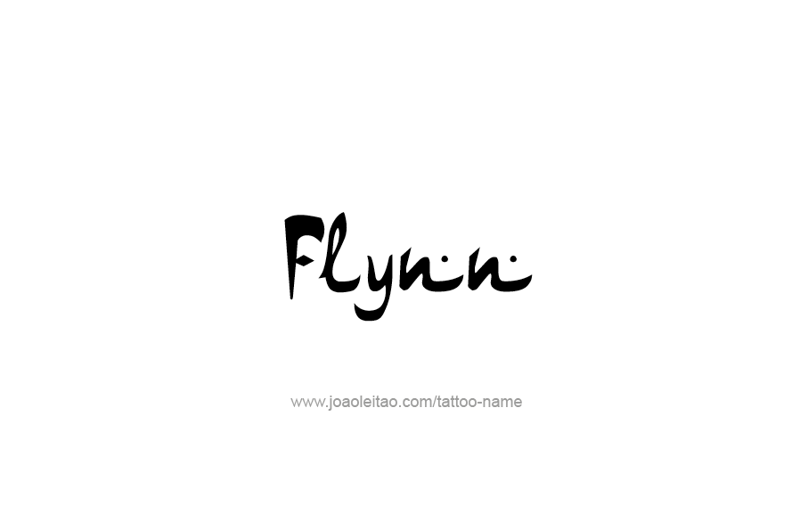 Tattoo Design  Name Flynn
