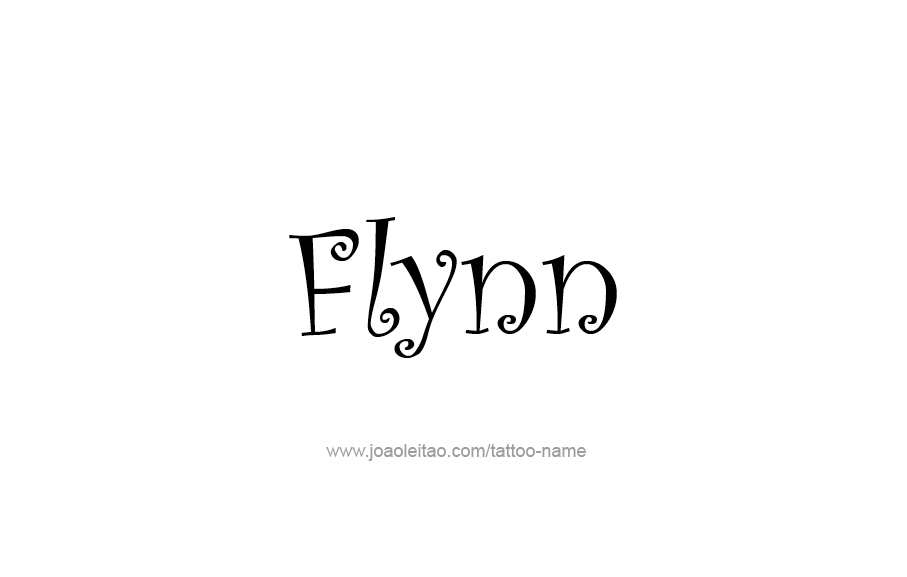 Tattoo Design  Name Flynn