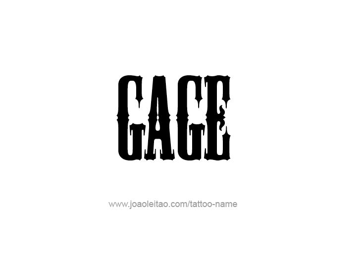 Tattoo Design  Name Gage