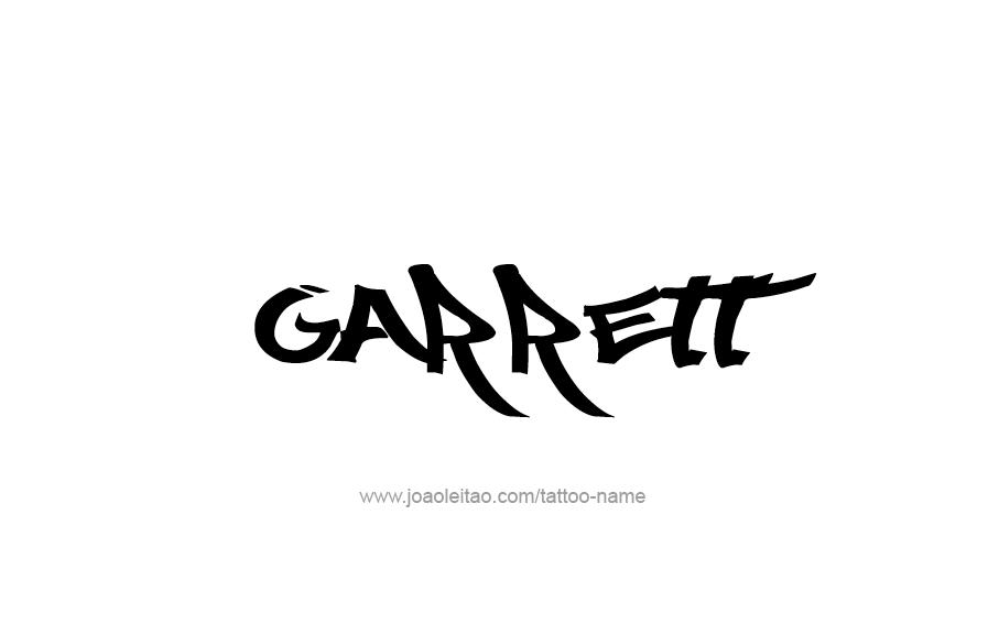 Tattoo Design  Name Garrett