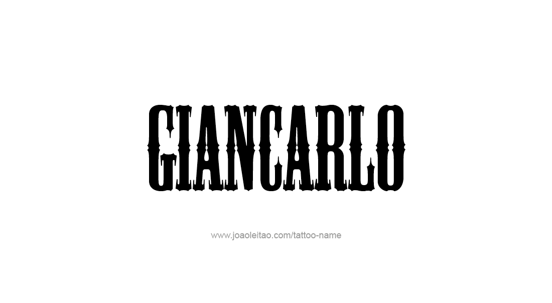 Tattoo Design  Name Giancarlo