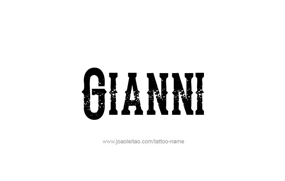 Tattoo Design  Name Gianni