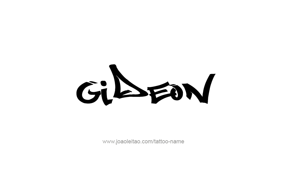 Tattoo Design  Name Gideon