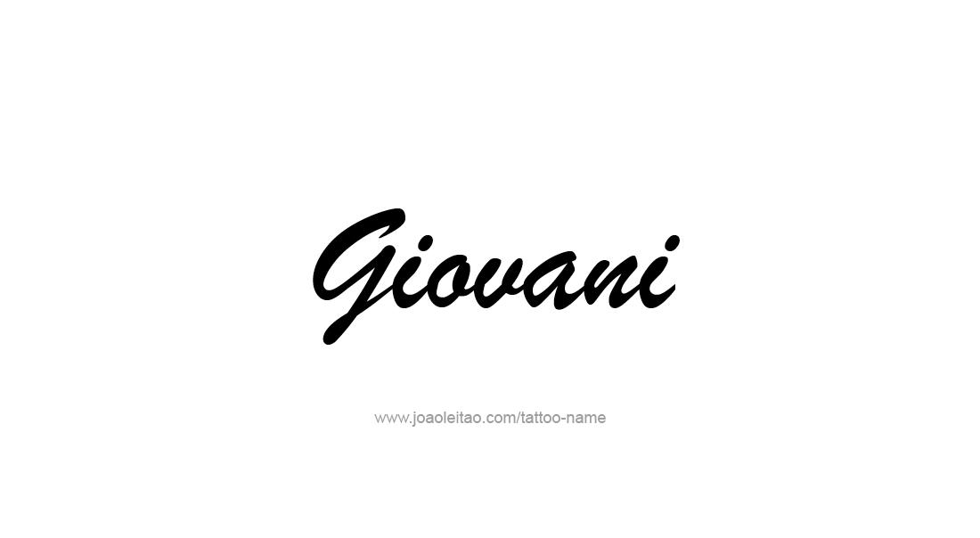 Tattoo Design  Name Giovani