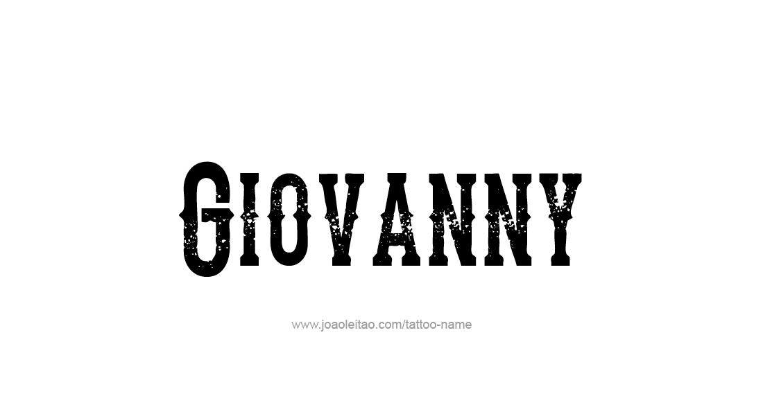 Tattoo Design  Name Giovanny