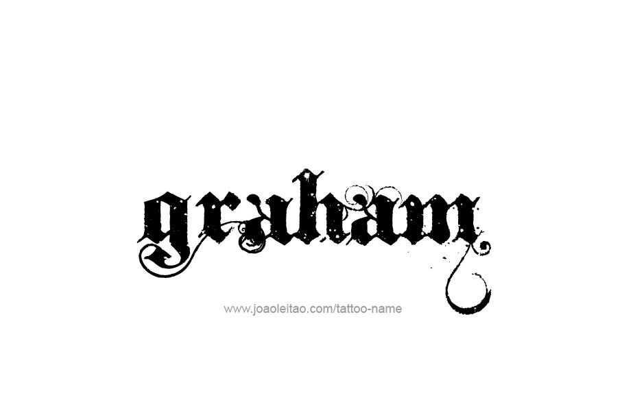 Tattoo Design  Name Graham