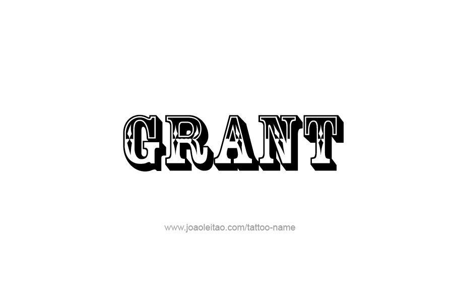 Tattoo Design  Name Grant