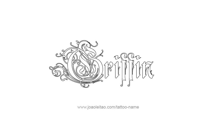 Tattoo Design  Name Griffin