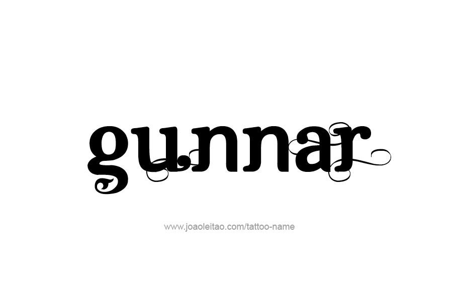 Tattoo Design  Name Gunnar