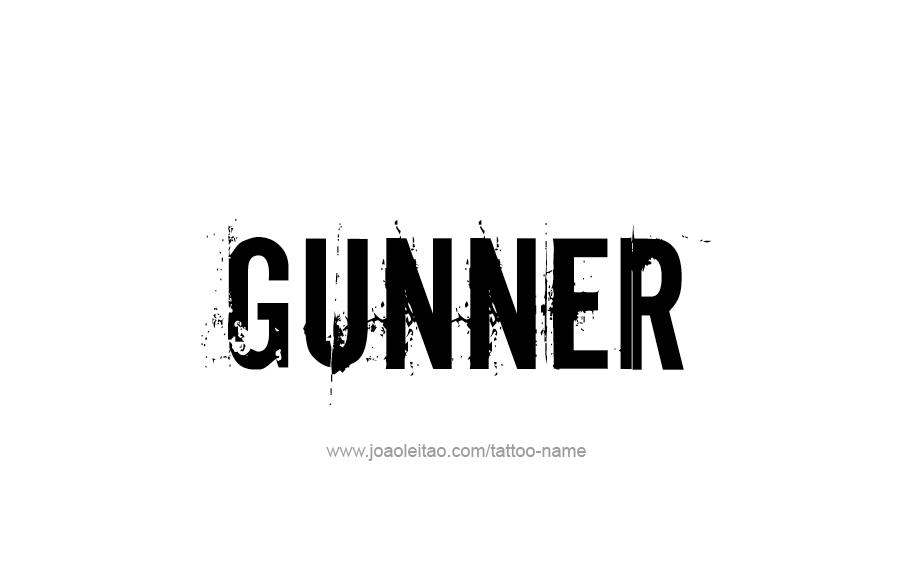 Tattoo Design  Name Gunner