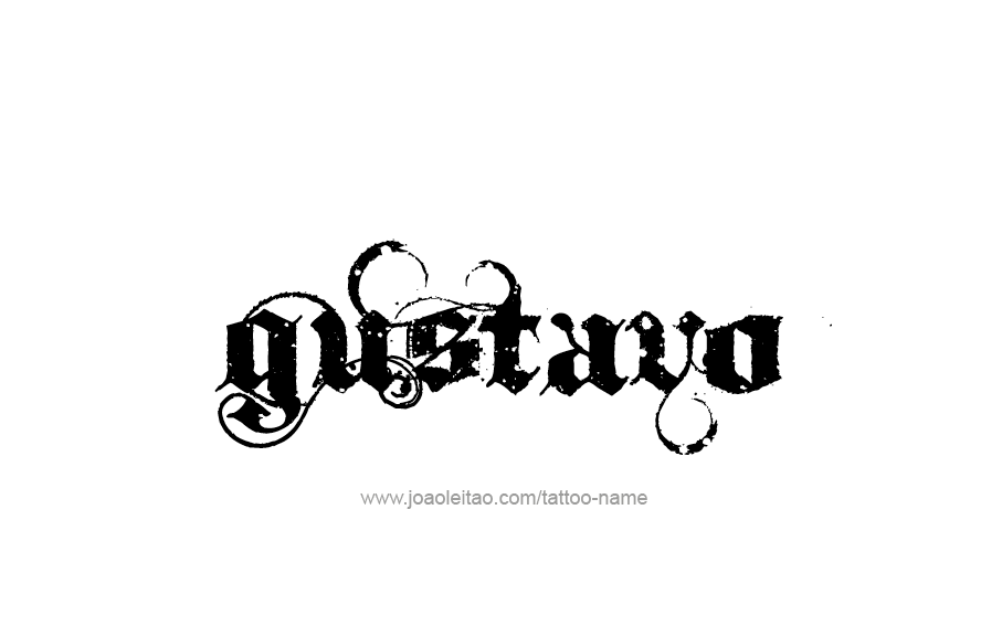 Tattoo Design  Name Gustavo