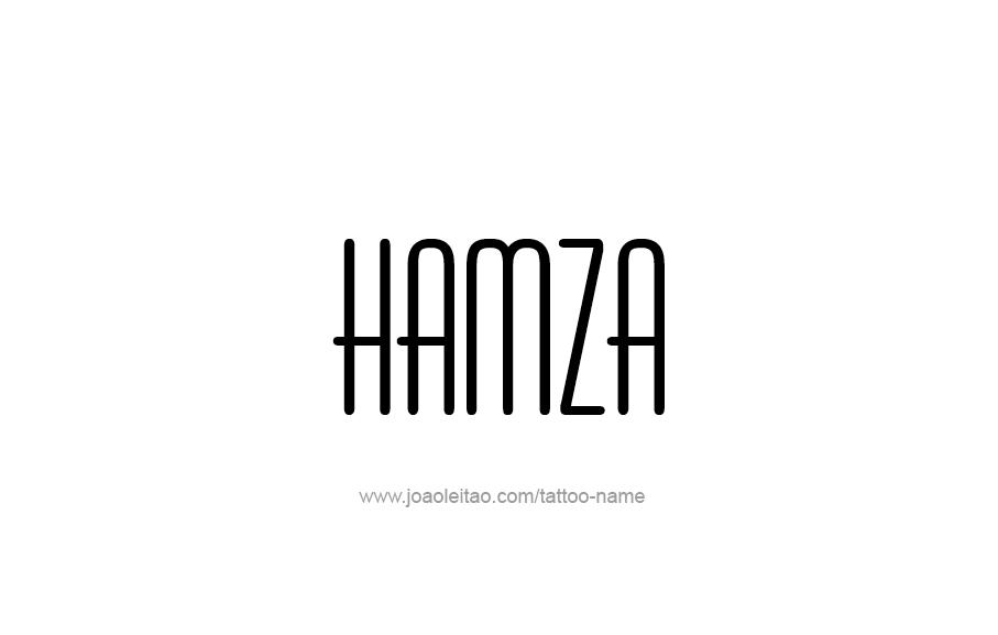 Tattoo Design  Name Hamza