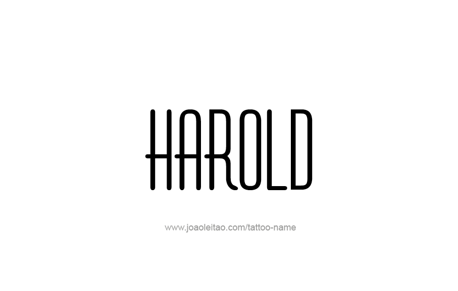 Tattoo Design  Name Harold