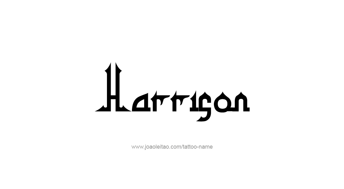 Tattoo Design  Name Harrison