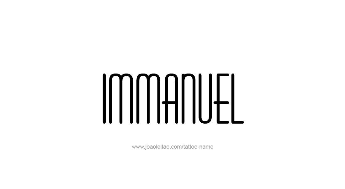 Tattoo Design  Name Immanuel