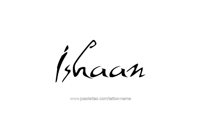 Tattoo Design  Name Ishaan