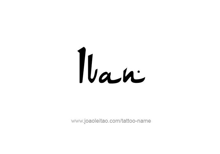 Tattoo Design  Name Ivan