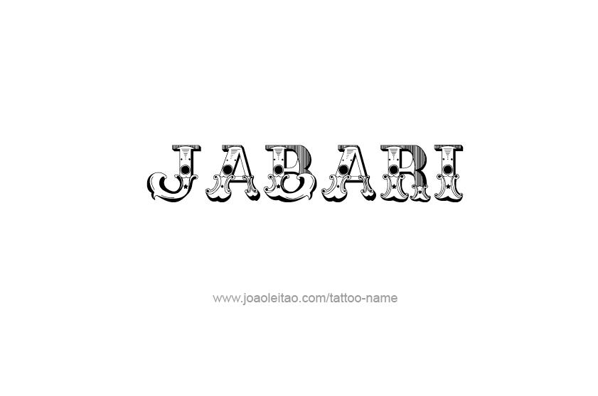 Tattoo Design  Name Jabari