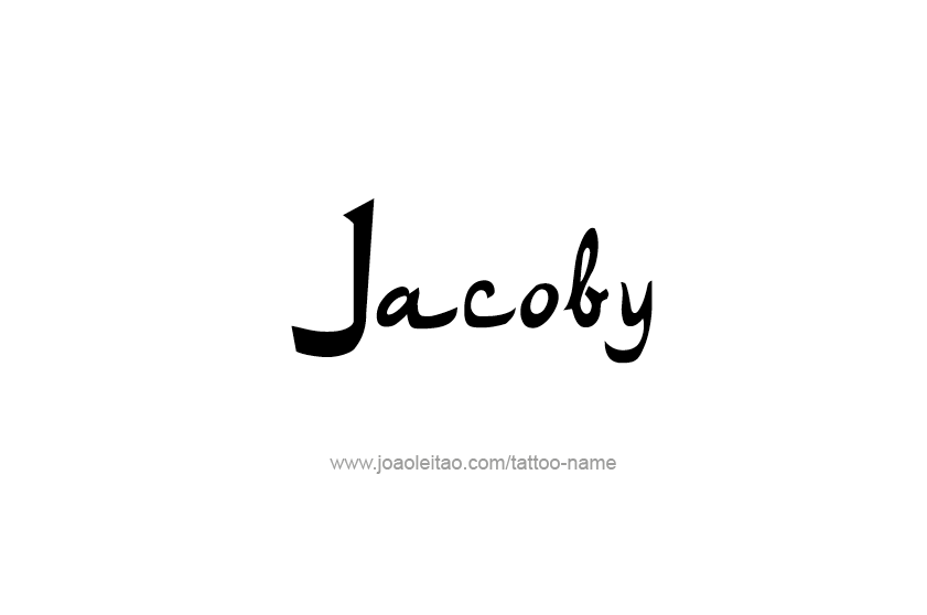Tattoo Design  Name Jacoby