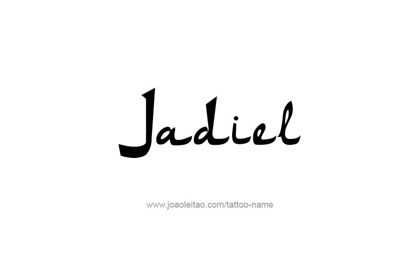 Tattoo Design  Name Jadiel