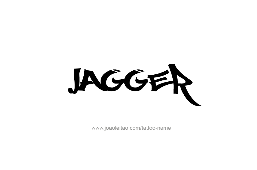 Tattoo Design  Name Jagger
