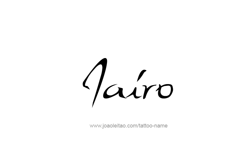 Tattoo Design  Name Jairo