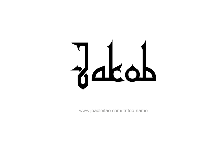Tattoo Design  Name Jakob
