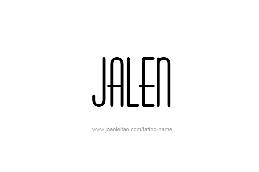 Tattoo Design  Name Jalen