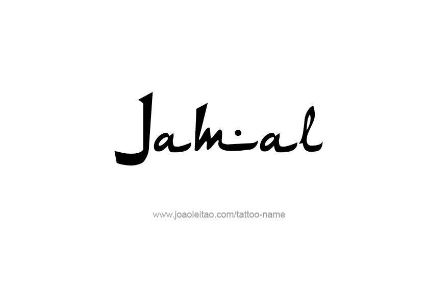 Tattoo Design  Name Jamal