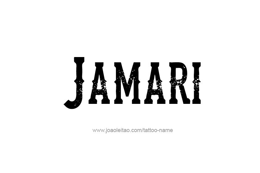 Tattoo Design  Name Jamari