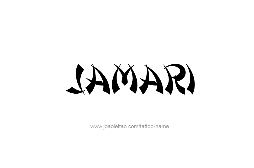 Tattoo Design  Name Jamari