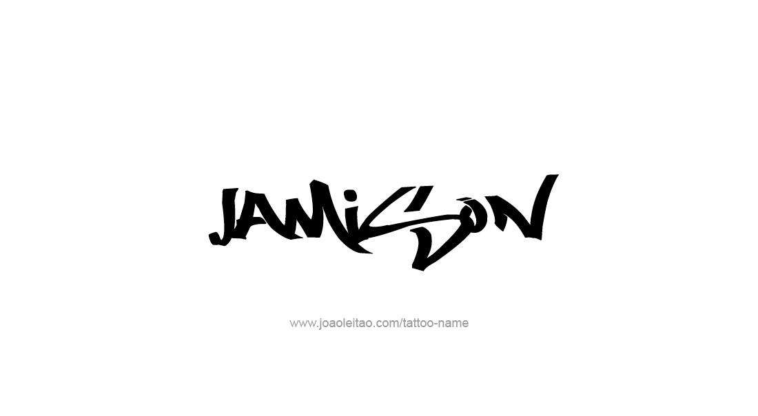 Tattoo Design  Name Jamison