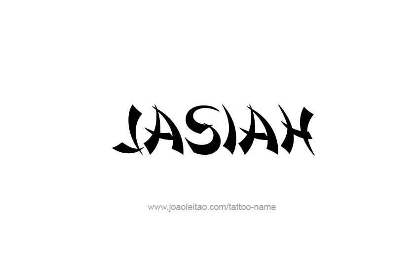 Tattoo Design  Name Jasiah
