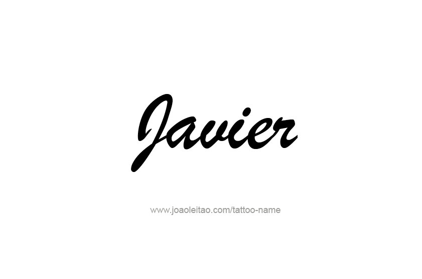 Tattoo Design  Name Javier