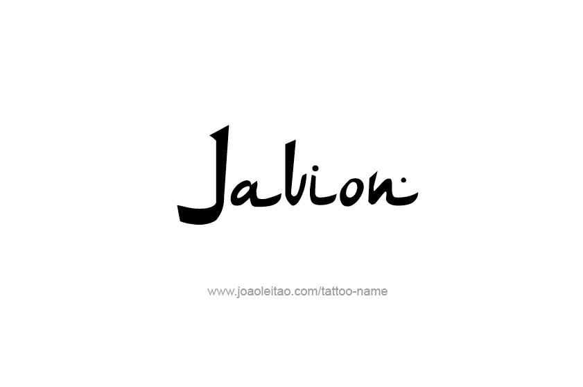 Tattoo Design  Name Javion