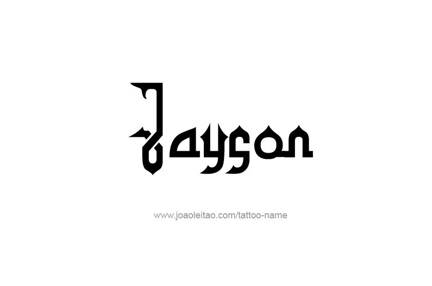 Tattoo Design  Name Jayson