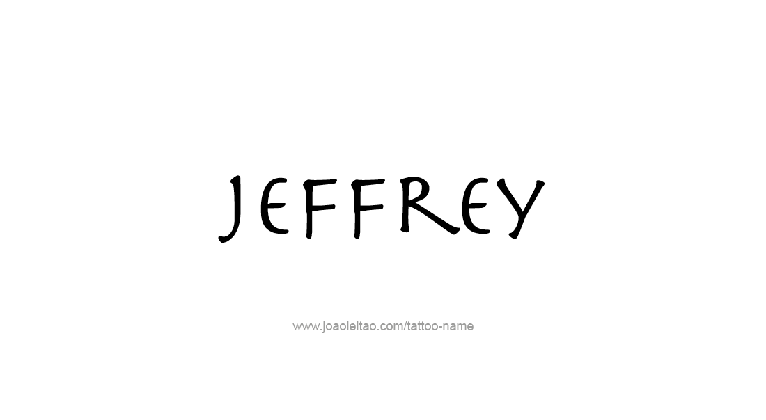 Tattoo Design  Name Jeffrey