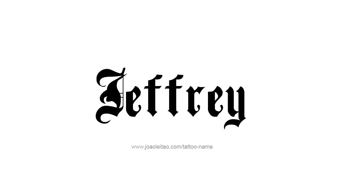 Tattoo Design  Name Jeffrey