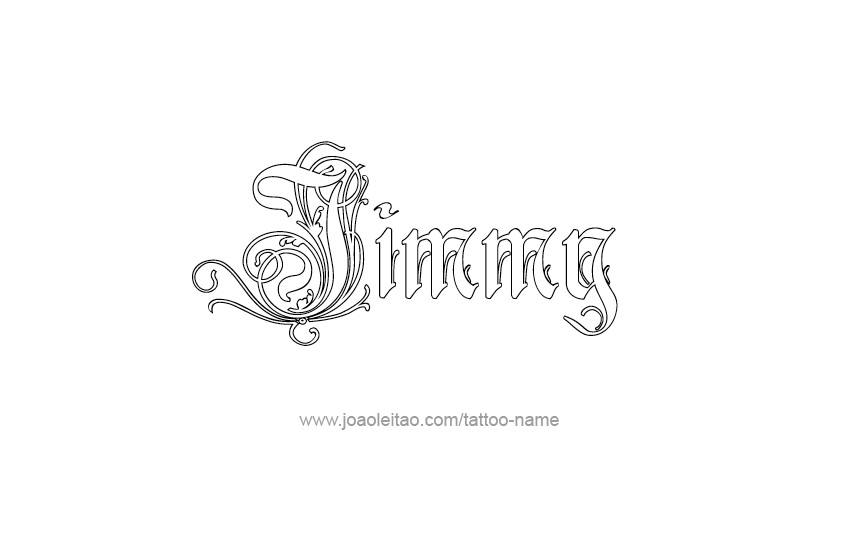 Jimmy Name Tattoo Designs