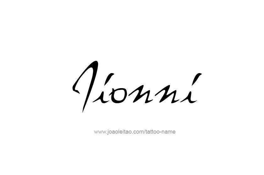 Tattoo Design  Name Jionni