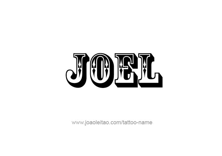 Tattoo Design  Name Joel