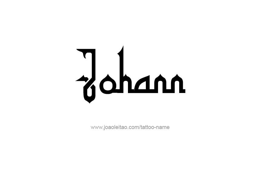 Tattoo Design  Name Johann