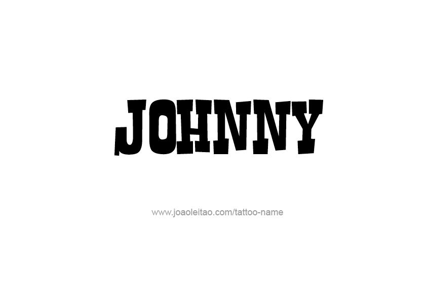 Tattoo Design  Name Johnny